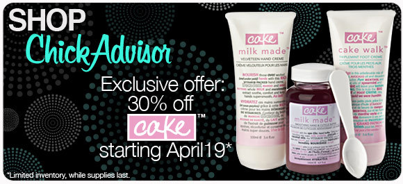 30% off Cake Beauty