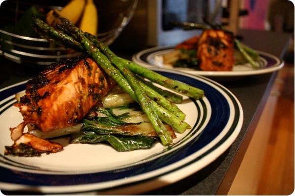 ... simple miso ginger glazed salmon honey soy glazed salmon with bok choy