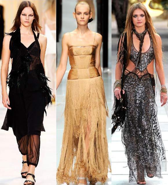 Antonio Marras Versace Roberto Cavalli Fringes and feathers were huge