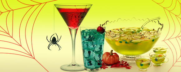 3 ghoulishly delicious halloween cocktail recipes for Halloween green punch recipes alcoholic