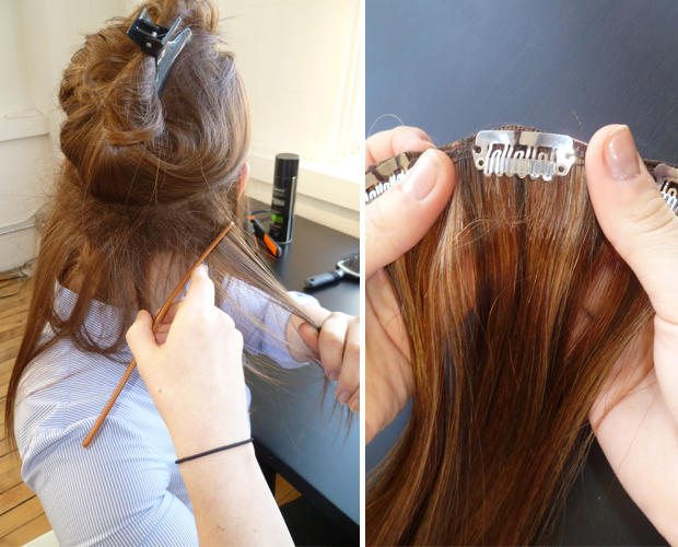 How to put in clip hair extensions step by step image collections how to clip in hair extensions in 9 simple steps step 2 start from the back pmusecretfo Choice Image