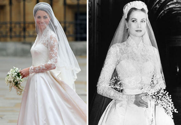 Kate In Her Sarah Burton Designed Gown And Cartier Tiara Grace Helen Rose An MGM Studio Costume Designer 1956 The Vows