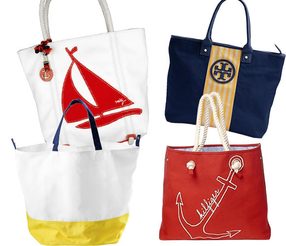 924cc77babe Clockwise from top left  Milly Sailboat Canvas Tote (US 250.00)  Tory Burch  Jaden ...