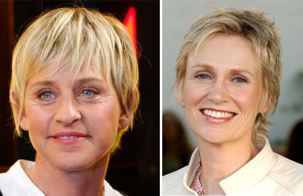 Jane Lynch ellen degeneres look alike