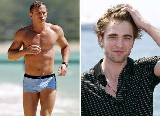 Robert Pattinson Vs Daniel Craig Gratuitous Hottie Face Off
