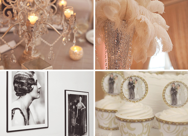 Wedding ideas 1920s vintage inspired gowns cocktails for 1920 decoration ideas