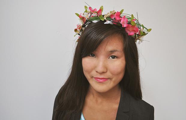 halloween costume idea woodland fairy flower crown diy