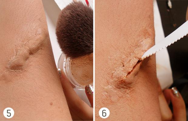 Как сделать шрам на