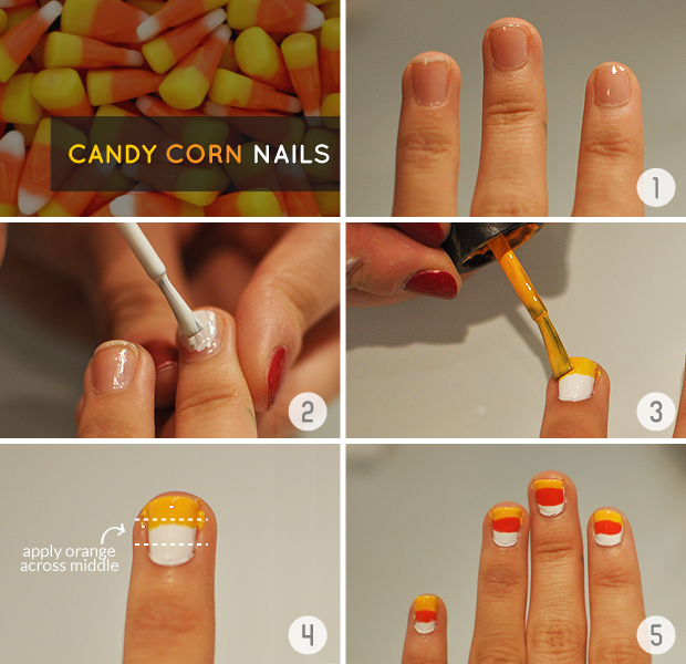 - Halloween DIY Tutorial: Candy Corn Nail Art