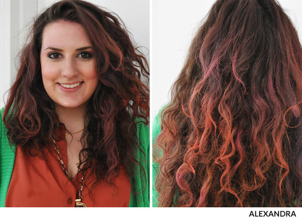 Colored Hair With Highlights
