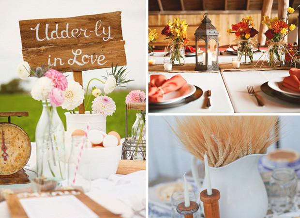 Flowers images via celebrationsathomeblogcom rusticweddingchiccom