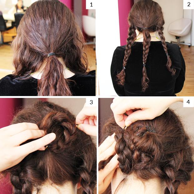 Easy Medium And Long Hair Tutorial How To Create A Braided Bun