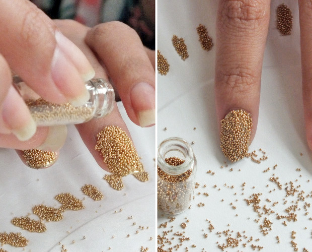 Nail Art Tutorial The Caviar Manicure