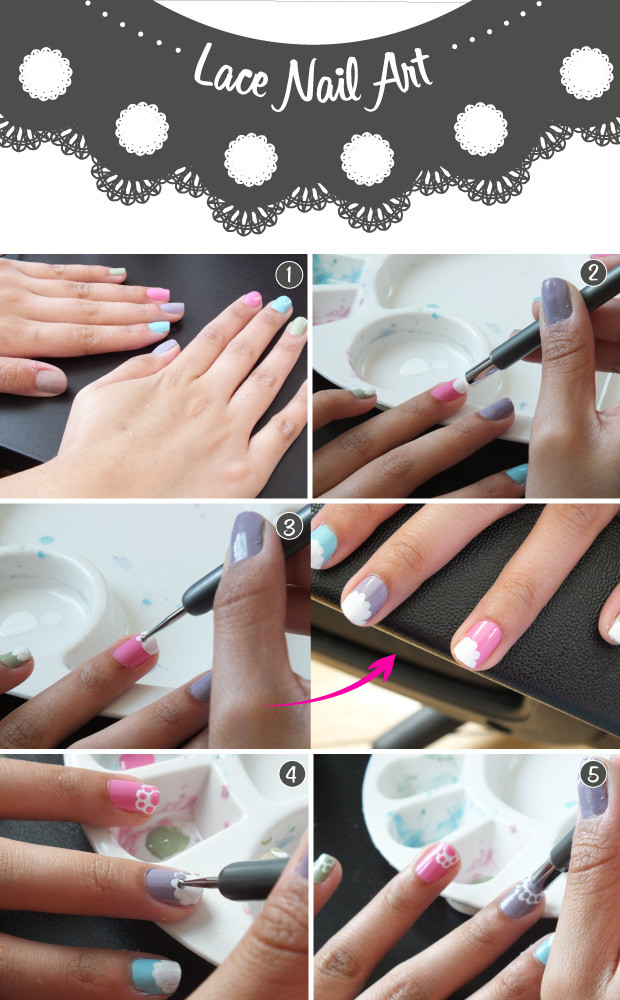 Nail Art Tutorial The Lace Manicure