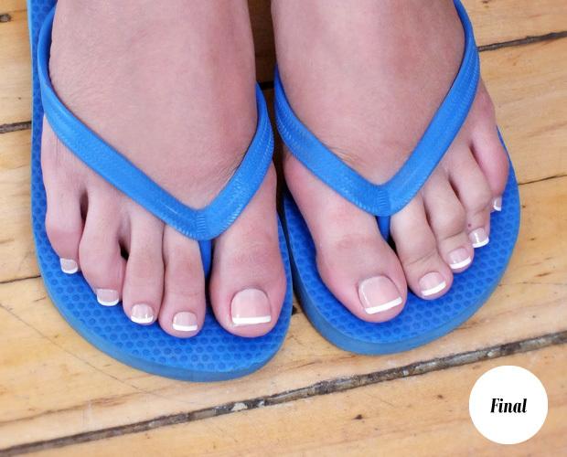 We tried it press on fake toenails for Acrylic toe nails salon