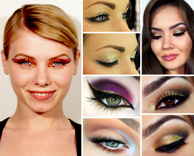 10 Ways To Wear Glitter Eye Makeup For The Holidays