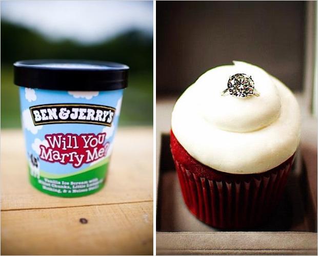 Anillo de compromiso en Cupcake