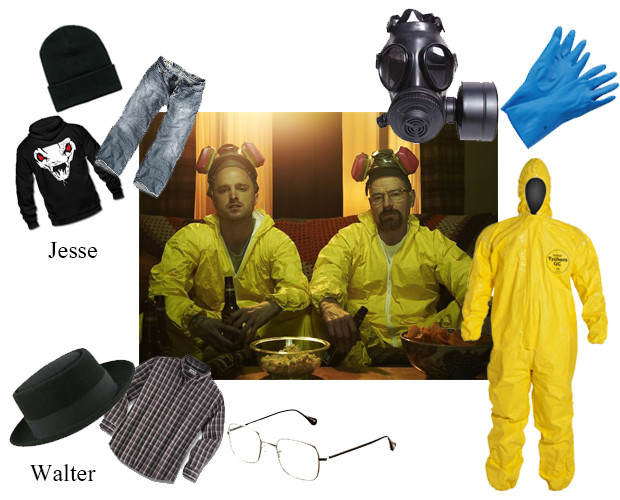 gloves and gas masks for Breaking Bad Gas Mask Costume