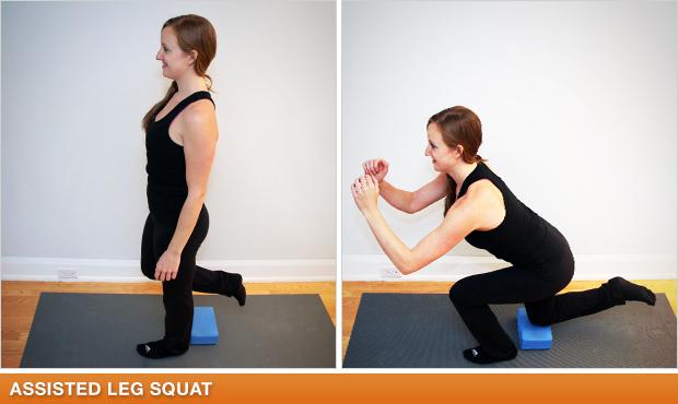 Assisted Single Leg Squat