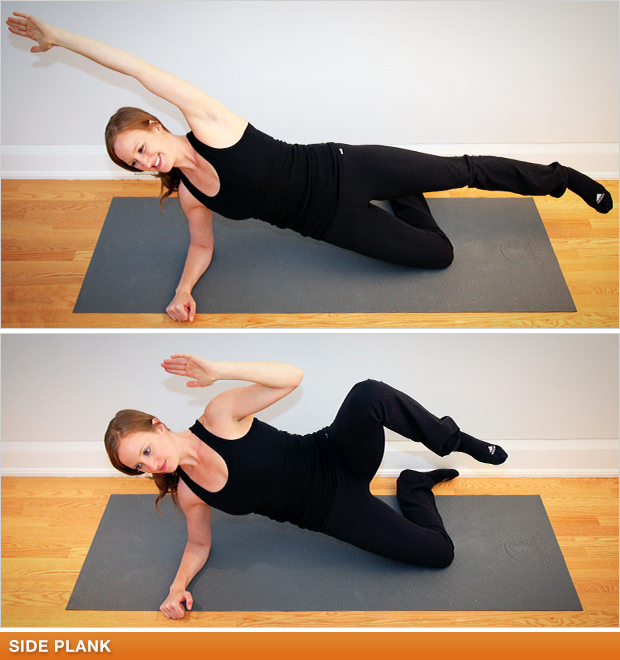 Side Plank, Knees to Elbows