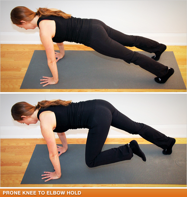Prone Knee to Elbow Hold