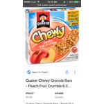 Quaker Chewy® Peach Fruit Crumble Granola Bars