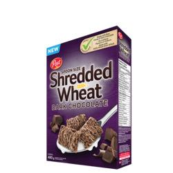 Spoon size shredded wheat dark chocolate