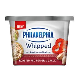 PHILADELPHIA WHIPPED CREAM CHEESE ROASTED RED PEPPER & GARLIC