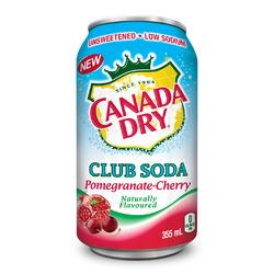 Canada Dry Club Soda Pomegranate-Cherry