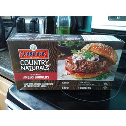 Schneiders country naturals angus beef burgers