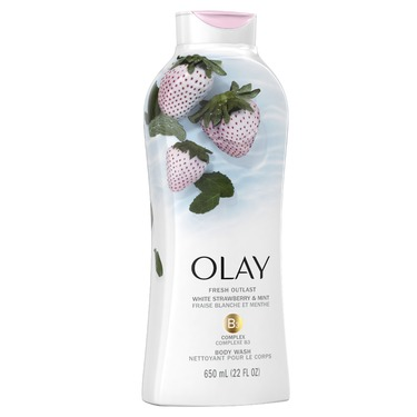 Olay cooling white strawberry and mint body wash