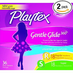 Playtex Gentle Glide Tampons Unscented