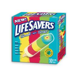 Popsicle Life Saver sucré et sure