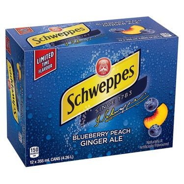 Schweppes Blueberry Peach GingerAle