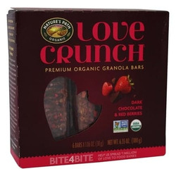 Natures path premium organic granola bars dark chocolate & berries