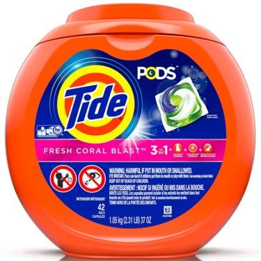 Tide PODS Laundry Detergent Fresh Coral Blast Scent
