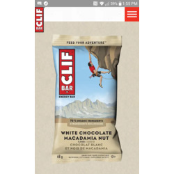 Cliff Bar,white chocolate macadamia nut