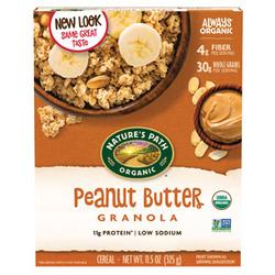 nature's path organic peanut butter granola