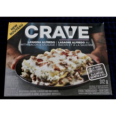 Crave Lasagna Alfredo with Bacon and Sausage