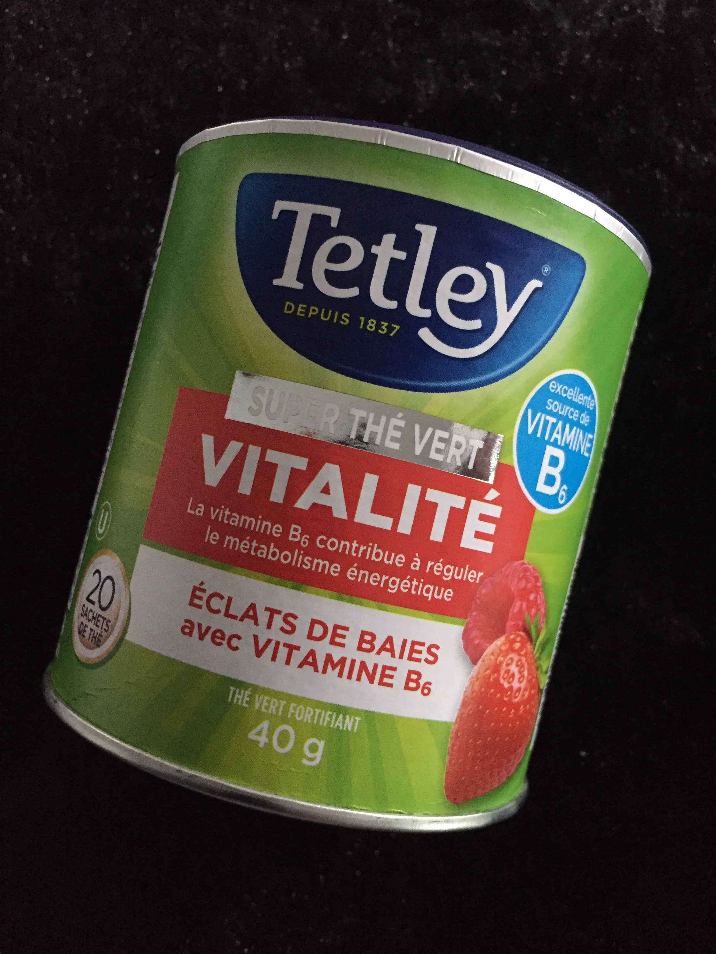 Tetley Super Green Tea Boost - Berry Burst with Vitamin B6