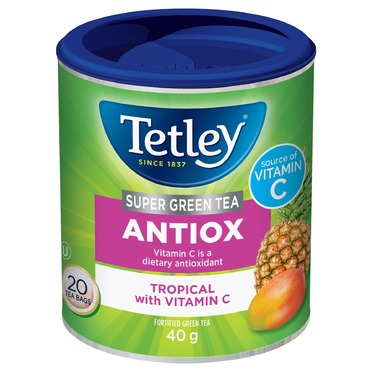 Tetley Super Green ANTIOX Tropical with Vitamin C