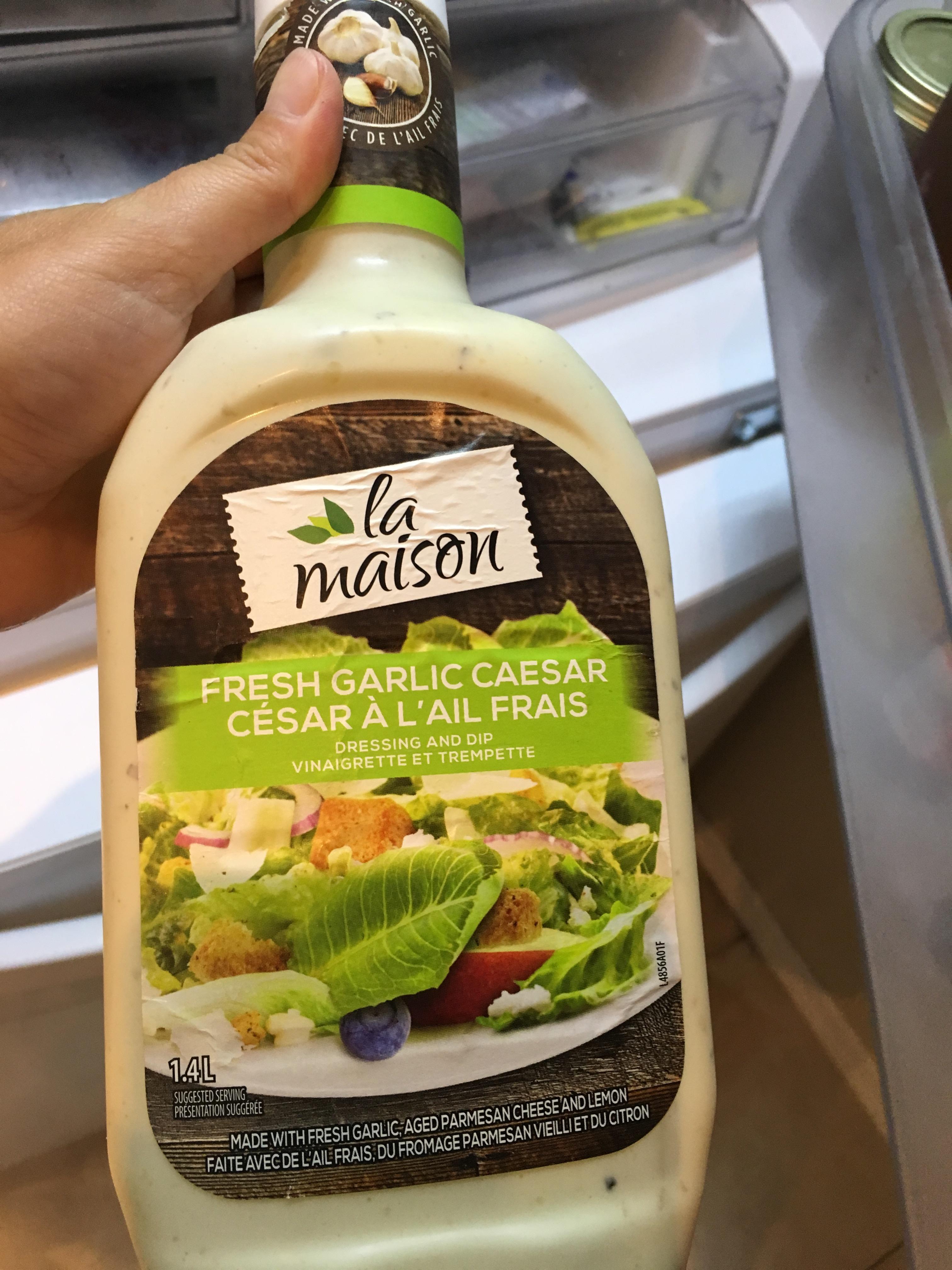 La Maison Du Dressing la maison fresh garlic caesar dressing reviews in condiment