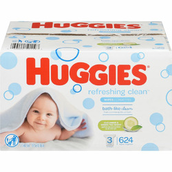 Huggies One and Done Wipes Cucumber and green tea