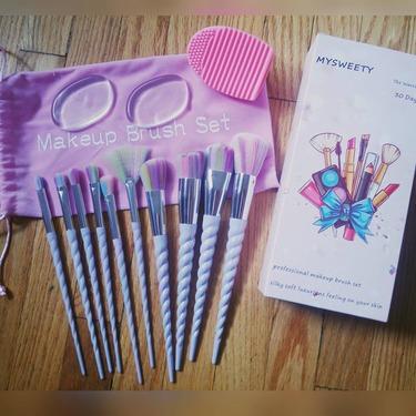 mysweety unicorn makeup brush set reviews in face brushes
