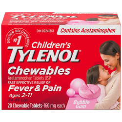 Children's TYLENOL Chewables For Fever And Pain