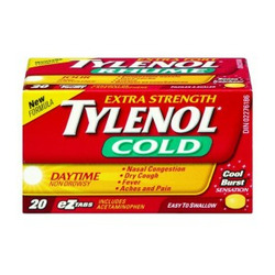 TYLENOL Cold Extra Strength Daytime EZTABS, 20 Count