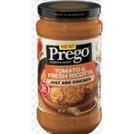 Prego cooking sauce