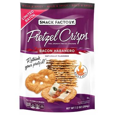 Snack factory pretzel crisps - bacon habanero