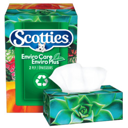 Scotties EnviroCare EnviroPlus 2 Ply Facial Tissue