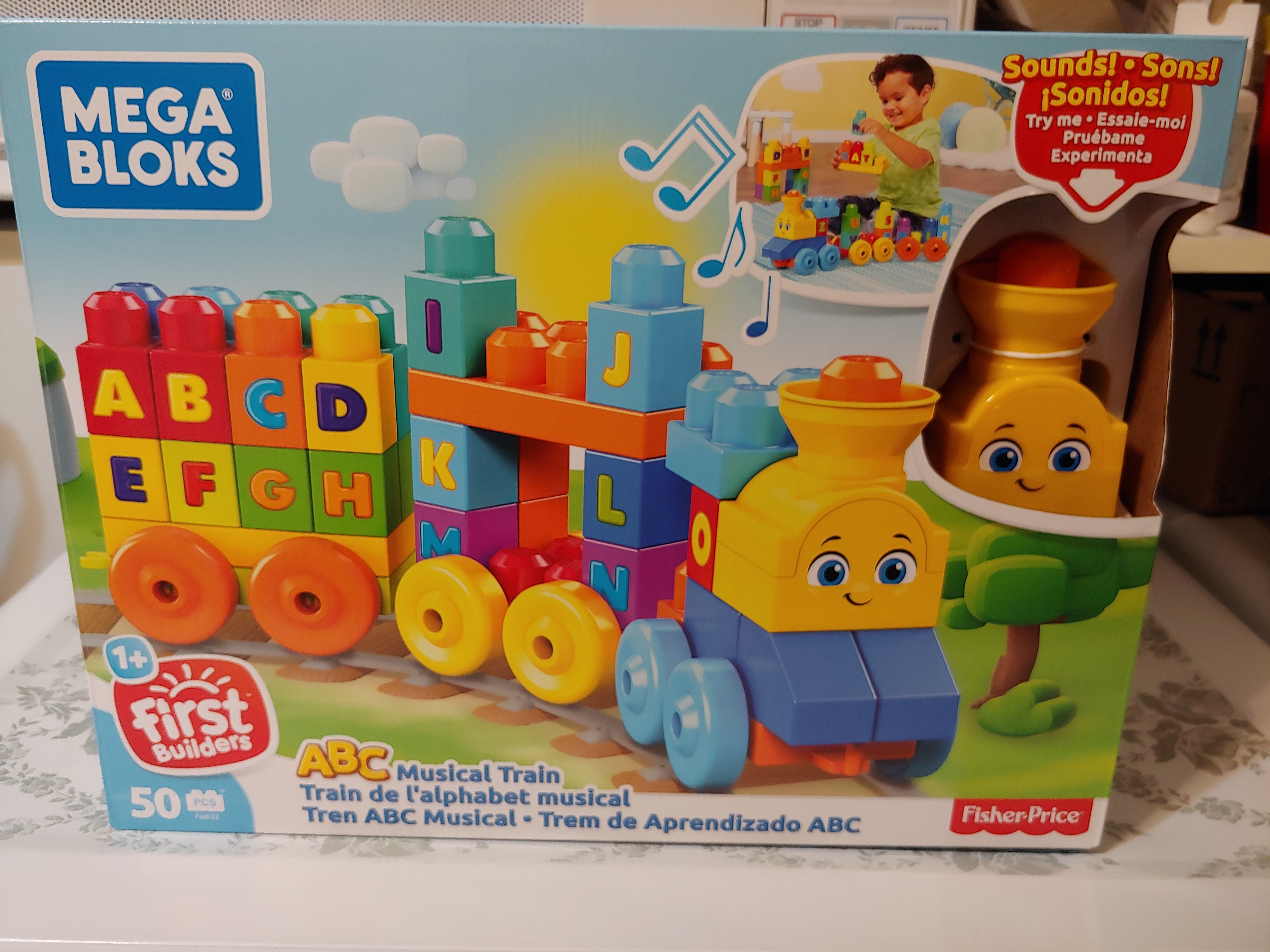 Mega Bloks ABC Musical Train Building Set reviews in Toys